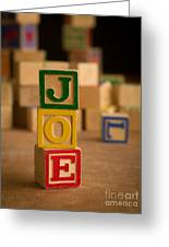 Joe - Alphabet Blocks Greeting Card