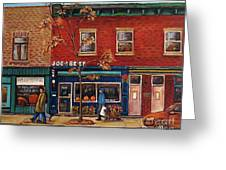 Joe Beef Restaurant Montreal Greeting Card