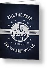 Joe Frazier - Navy Blue Greeting Card