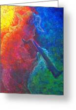 Joe Jazzes Into The Night Greeting Card by The Art With A Heart By Charlotte Phillips