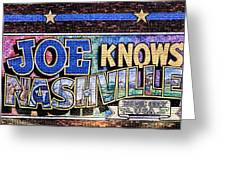 Joe Knows Nashville Greeting Card