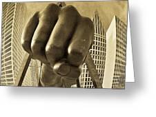 Joe Louis Fist In Detroit Greeting Card