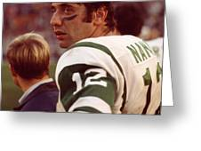 Joe Namath  Greeting Card by Retro Images Archive