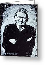 Joe Paterno Greeting Card by Chris Mackie