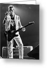 Joe Strummer At Clash Final Concert Greeting Card