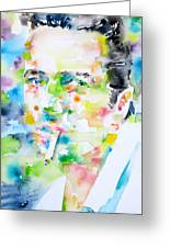 Joe Strummer - Watercolor Portrait Greeting Card