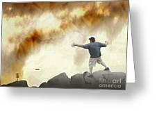 Joe Vs. The Volcano Greeting Card
