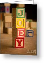 Joey - Alphabet Blocks Greeting Card
