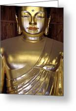 Jogyesa Buddha Greeting Card by Jean Hall