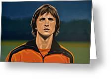 Johan Cruyff Oranje Greeting Card