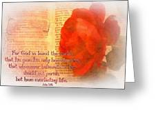 John 3 16 Floral Greeting Card
