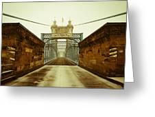 John A. Roebling Bridge Greeting Card