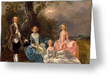John And Ann Gravenor With Their Daughters Greeting Card