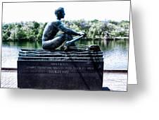 John B Kelly Statue Philadelphia Greeting Card by Bill Cannon