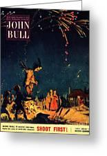 John Bull 1954 1950s  Uk Guy Fawkes Greeting Card