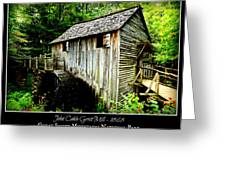 John Cable Grist Mill - Poster Greeting Card