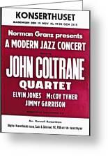 John Coltrane Quartet In Sweden Greeting Card