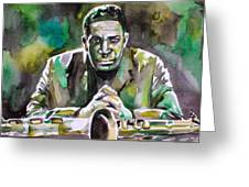 John Coltrane - Watercolor Portrait Greeting Card