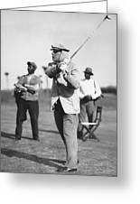 John D. Rockefeller Golfing Greeting Card