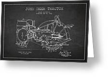 John Deer Tractor Patent Drawing From 1933 Greeting Card