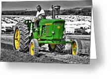 John Deere 4020 Greeting Card