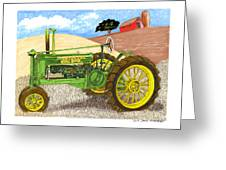 John Deere At Rest Greeting Card by Jack Pumphrey
