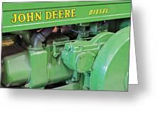 John Deere Diesel Greeting Card by Susan Candelario