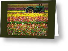 John Deere Tulips Greeting Card