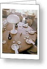 John Dickinson's Dining Table Greeting Card
