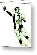 John Elway Greeting Card by Don Medina