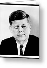 John F. Kennedy Greeting Card by Benjamin Yeager