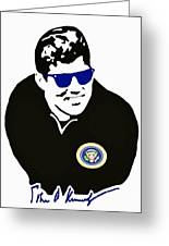 John F Kennedy Signature Wayfarer Greeting Card by Jost Houk