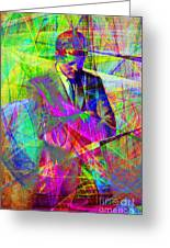 John Fitzgerald Kennedy Jfk In Abstract 20130610 Greeting Card