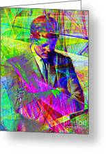 John Fitzgerald Kennedy Jfk In Abstract 20130610v2 Greeting Card