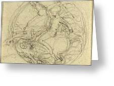 John Flaxman, British 1755-1826, Design For A Medal Greeting Card