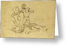 John Flaxman, British 1755-1826, Figure Standing Greeting Card