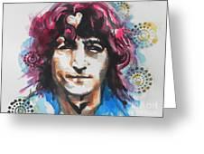 John Lennon..up Close Greeting Card