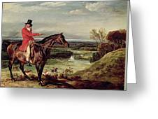 John Levett Hunting In The Park At Wychnor Greeting Card