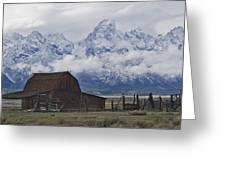 John Moulton Barn Grand Teton National Park Wyoming Greeting Card