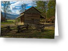 John Oliver Cabin Cades Cove Tn Greeting Card by Paul Herrmann