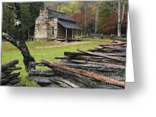 John Oliver Cabin - D000352 Greeting Card