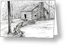 John Ownby Cabin Greeting Card