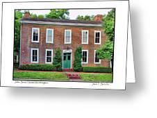 John Snow House Worthington Greeting Card