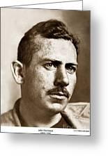 John Steinbeck American Author Circa 1938 Greeting Card