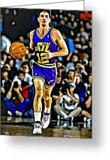 John Stockton Portrait Greeting Card