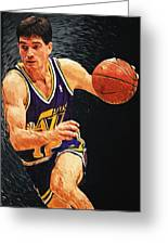 John Stockton Greeting Card by Taylan Apukovska