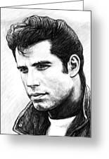 John Travolta Art Drawing Sketch Portrait Greeting Card