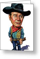 John Wayne Greeting Card by Art