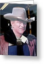 John Wayne Cardboard Cut-out In Store Window Tombstone  Arizona 2004 Greeting Card