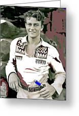 John Wayne In Buckskins The Big Trail 1930-2013 Greeting Card